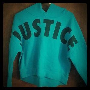 Blue Justice crop top/hoodie